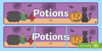 Potions Display Banner - Potion Display Banner - potion, role play, witch, potions, dangerous, the magic potion, magic, potio
