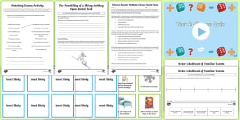 Year 4 Chance Resource Pack  - Australian Curriculum Statistics and Probability, year 4 maths, chance, probability, statistics, mat