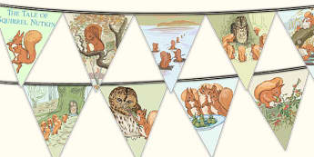 The Tale of Squirrel Nutkin Bunting - squirrel nutkin, bunting