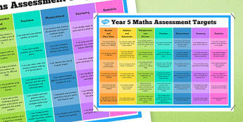 Year 5 Maths Assessment Posters - maths, assessment, poster