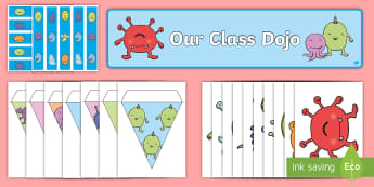 Our Class Dojo Resource Pack - behaviour management, points, rewards, motivation, avatars