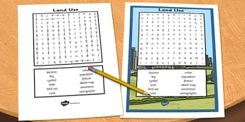 Land Use Wordsearch - land use, wordsearch, word, search, land