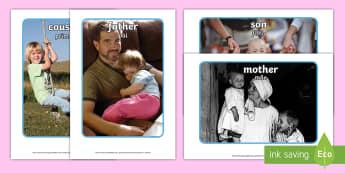 My Family Display Photos English/Portuguese - My Family Display Photos - my family, family, display, photos, display photos, photographs,Family's