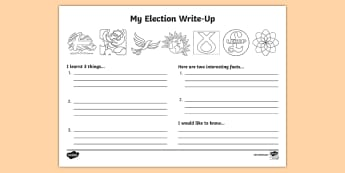 General Election 2017 Write Up Activity Sheet - worksheet, election 2017, general election 2017, theresa may, labour, conservatives, liberal democra