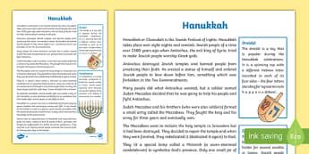 Hanukkah Fact File