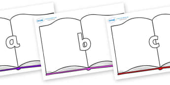 Phase 2 Phonemes on Books - Phonemes, phoneme, Phase 2, Phase two, Foundation, Literacy, Letters and Sounds, DfES, display