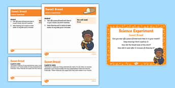 EYFS Sweet Bread Science Experiment and Prompt Card Pack