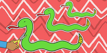 Snakes of Varying Lengths Cut Outs - snakes, cutout, reptile, measure, length, informal units, snake, centimetres, millimetre