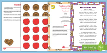 Five Currant Buns Money Activity Resource Pack Resource Pack - shops, shopping, money, pay, buy, shopkeeper, playdough, buns, number, rhyme, mathematics, EYFS, son