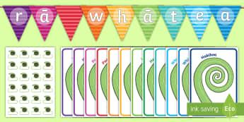 Koru Birthdays Display Pack - Maori, Te Reo Maori, birthdays, happy birthday, koru, fronds