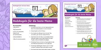 Anleitung Badekugeln für die beste Mama Anleitung - Muttertag, Geschenk, Baden, mother's day, present, bathing,German