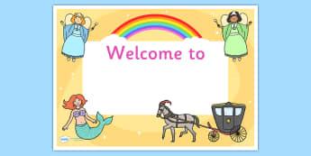 Fantasy Editable Class Welcome Door Signs - fantasy, fantasy themed welcome signs, fantasy welcome signs, welcome signs, fantasy classroom signs, welcome