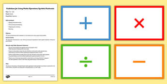 Maths Operations Symbols Flashcards - matching, comparing, calcualtions, activities, cards, sort, order, fun, short, revision, visual aid, kinaesthetic, irish, ireland, ks2, key stage, upper,
