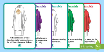 Chasuble A4 Display Poster - Confession & First Communion Resources,Irish