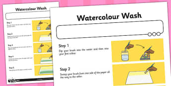 Activity Sheet Watercolour Wash - activity, watercolour, wash, worksheet