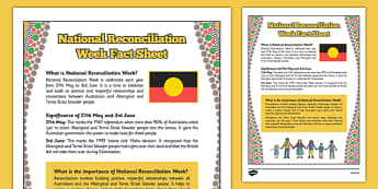 National Reconciliation Week Fact Sheet - australia, National Reconciliation Week, Fact Sheet, Reconciliation, information