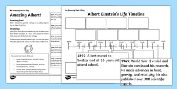 Amazing Albert Activity Sheet - amazing fact a day, activity sheet, activity, activities, amazing, albert einstein, worksheet