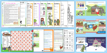 Traditional Tales Year 1 Supply Resource Pack - Stories, Supply teacher, Planning, class management,cover