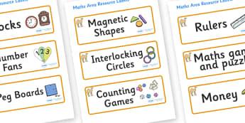 Camel Themed Editable Maths Area Resource Labels - Themed maths resource labels, maths area resources, Label template, Resource Label, Name Labels, Editable Labels, Drawer Labels, KS1 Labels, Foundation Labels, Foundation Stage Labels, Teaching Label