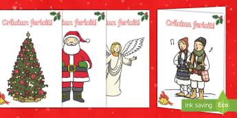 Scrie o felicitare de Crăciun Activitate - scrierea funcțională, felicitare, carte poștală, sărbători de iarnă, Crăciun,Romanian