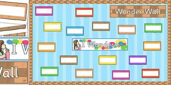Wonder Wall Display Pack - wonder wall, display pack, display, pack