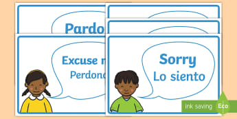 Good Manners Vocabulary Display Posters English/Spanish - please, thank you, polite, excuse me, pardon, vocabulary, display, poster, EAL, Spanish,