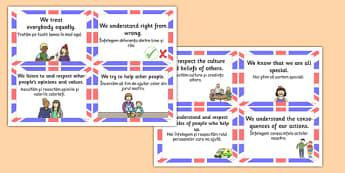 British Value Cards Romanian Translation - romanian, british values, cards, values