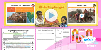 PlanIt - RE Year 4 - Pilgrimages Lesson 3: Hindu Pilgrimages Lesson Pack - Pilgrimage, Hinduism, Hindus, Ganges, Yamuna, Sangam, Kumbh Mela