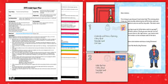 Christmas Post Rhyme EYFS Adult Input Plan and Resource Pack to Support Teaching on The Jolly Christmas Postman - EYFS, Early Years, planning, Christmas, CL, Communication and Language, Janet and Allan Ahlberg, The Jolly Christmas Postman