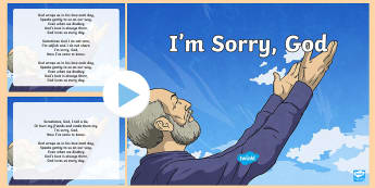 I'm Sorry God Song PowerPoint - ROI - Hymns and Religious Songs, Music, Hymns, Communion, Confirmation, First Confession, Confession