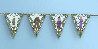Jack and the Beanstalk Bunting - bunting, display, jack, giant