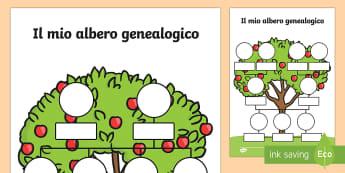 Il mio Albero Genealogico - albero, genealogico, famiglia, familiare, italiano, italian, esercizio