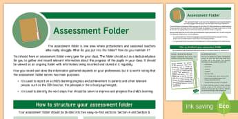 CfE Probationer Assessment Folder Display Poster - CfE, Probationer, Planning, Organisation, Assessment, Teacher, Folder, poster, display, Scottish