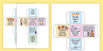 Spark A Conversation Dice Activity - Spark A Conversation Prompt Cards - prompt cards, conversation prompt cards, how to start a conversa
