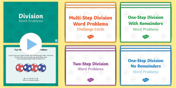 Division Word Problems Resource Pack - KS2, Key Stage 2, Year 3, Year 5, Year 6, Y3, Y5, Y6, solve problems, including missing number probl