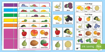 Fruit Themed Bingo - Fruit Themed Bingo - game, activity, activities, games, fruit, fruit themed, bingo, bingo game, frui