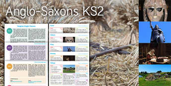 Imagine Anglo-Saxons KS2 Resource Pack - Angle, Saxon, Farm, History, Helmet, King, Sewing, Village