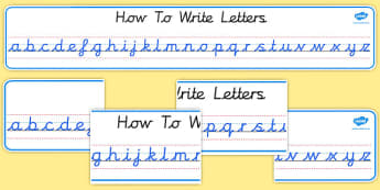 Cursive Alphabet Display Banners - Alphabet display banner, cursive, Literacy, KS1, Banner, Letters display banner, Classroom labels, Area labels, Poster, Display, Areas, Literacy, Writing, CLL