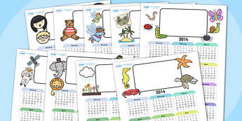 Mixed Themed Editable Calendar Pack - mixed themed calendars, calendars, themed calendars, calendar pack, resource pack, pack, editable calendars