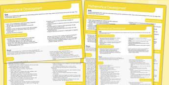 Welsh Curriculum Foundation Mathematical Development Overview
