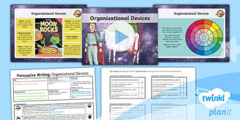 PlanIt Y3 Space: To Support Teaching on The King of Space Lesson Pack Persuasive Writing (4) - The King of Space, adverts, organisational devices, The King of Space, space, Year 3, Y3, English, n