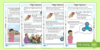 KS1 Fidget Spinners Differentiated Fact File -  fidget spinners, fidget spinner, Fidget Spinners, Fidget Spinner, ks1 differentiated fact file, ks1