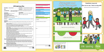 EYFS Hansel and Gretel Safer Strangers Adult Input Plan and Resource Pack - hansel and gretel, story, fairy tales, stranger, safer stranger, lost, safe