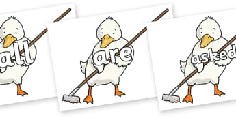 Tricky Words on Farmer Duck With Hoe - Tricky words, DfES Letters and Sounds, Letters and sounds, display, words