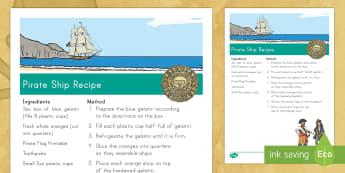 Edible Pirate Ship Recipe - pirate, pirates, pirate recipe, pirate ship recipe, edible recipe, pirate theme, pirate snack, pirat