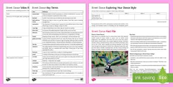 Street Dance Activity Pack - dance, ks3 dance, ks4 dance, street dance, urban dance, dance appreciation, dance facts, choreograph