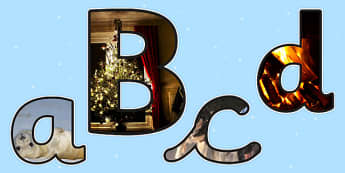 Winter Themed Photo Display Lettering - winter, display, letters