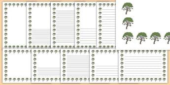 Rowan Tree Themed Page Borders - rowan tree, themed, page borders, pack, page, borders