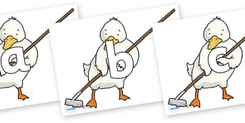 Phoneme Set on Farmer Duck With Hoe - Phoneme set, phonemes, phoneme, Letters and Sounds, DfES, display, Phase 1, Phase 2, Phase 3, Phase 5, Foundation, Literacy