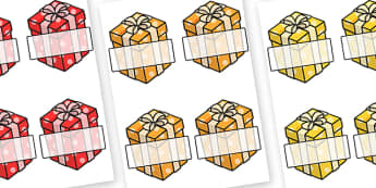 Christmas Editable Self Registration Presents - christmas, xmas, self registration, self-registration, editable, editable labels, editable self registration labels, presents, labels on presents, wrapped boxes, gifts, christmas presents, labels, regis